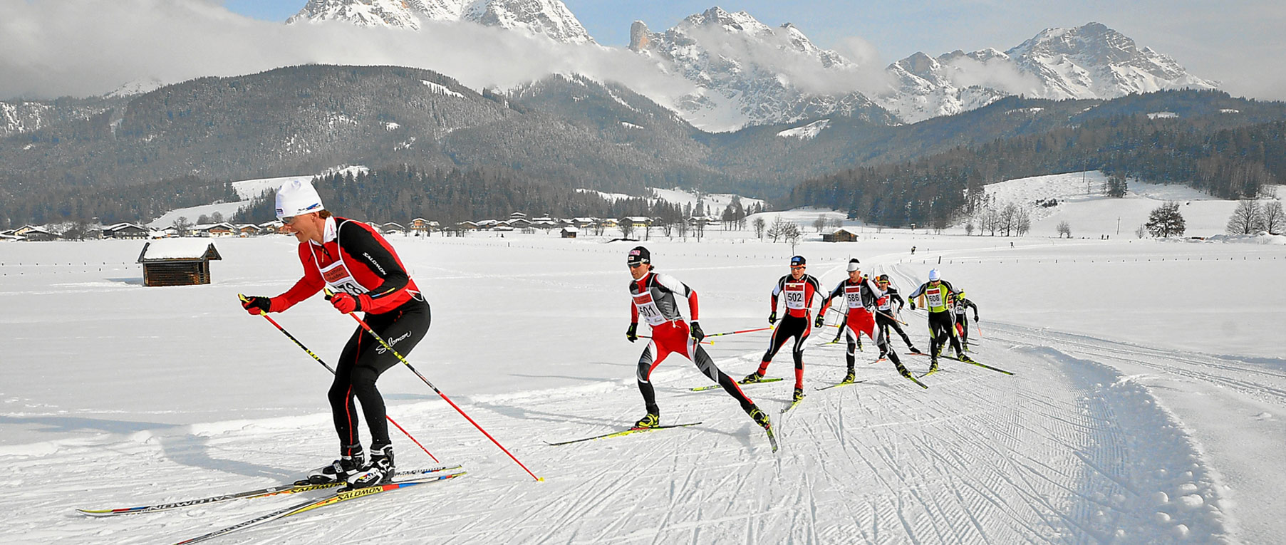 Cross-country-skiing in Saalfelden